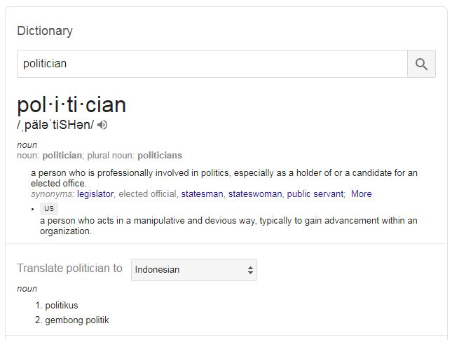 pengertian politisi