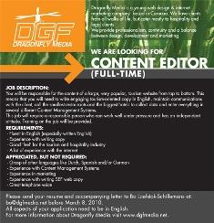 Lowongan Kerja: Web Content Editor