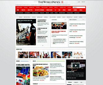 The World News II – Template Joomla untuk Situs Berita Online