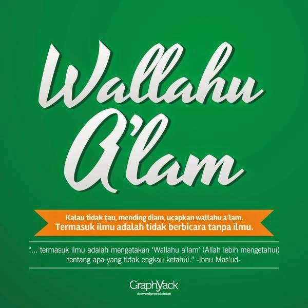 wallahu alam