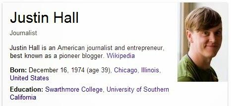 Justin Hall - Blogger Pertama