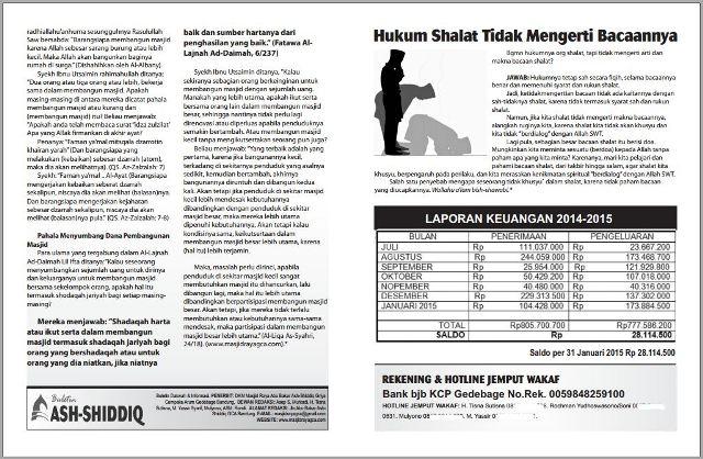 contoh buletin dakwah masjid jumat
