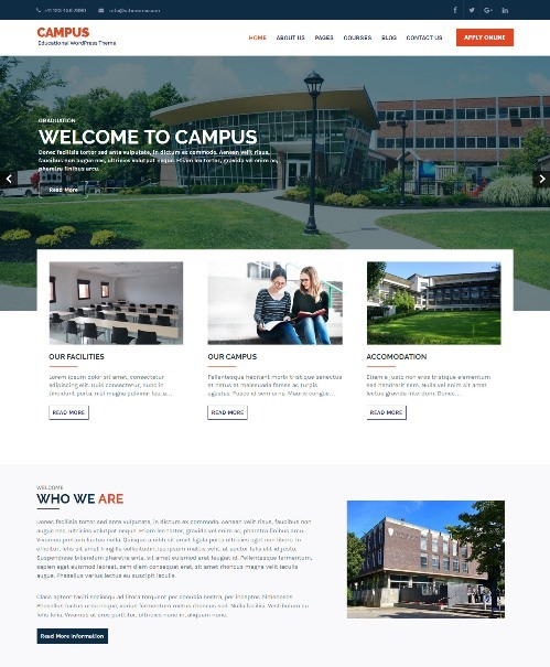 Campus Education WordPress theme