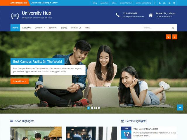 University Hub WP Theme