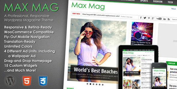 Max Mag v1.14 – Themeforest Responsive WordPress Magazine Theme