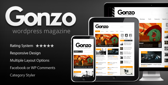 Gonzo – Clean Responsive WP Theme Magazine