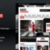 Hades Bold Magazine Newspaper Template WordPress Theme