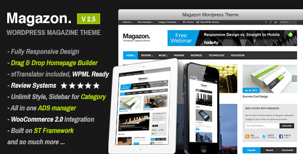Magazon v2.5 – Themeforest Advanced, Responsive WP Magazine Theme