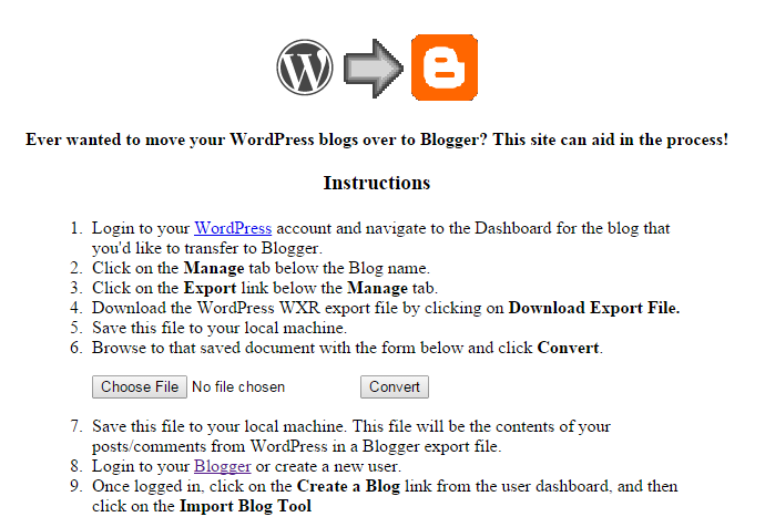 Konversi Isi Blog WordPress ke Blogger
