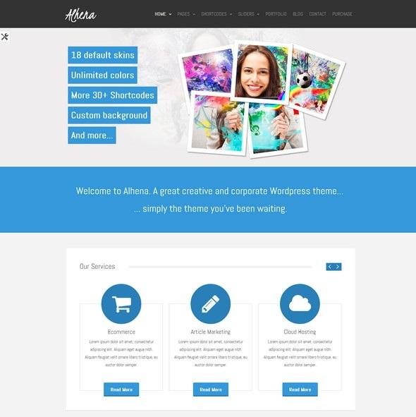Alhena – Free Corporate WordPress theme