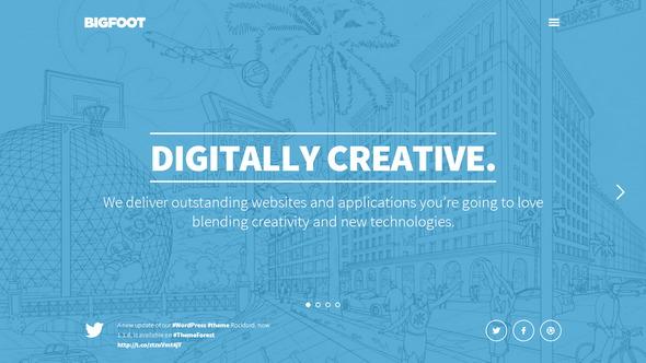 BigFoot – Big, bold wordpress premium theme for creatives