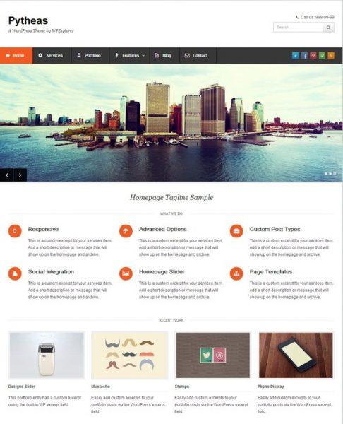Pytheas – Free Responsive Corporate WordPress Theme