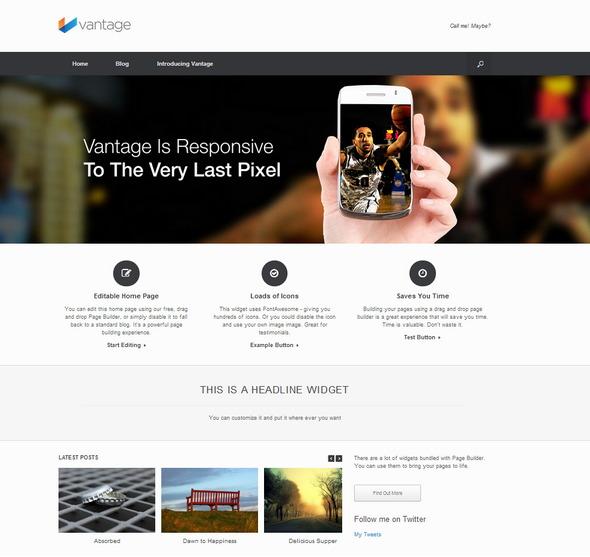 Vantage – Free Premium wordpress theme