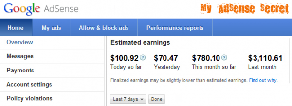 rahasia adsense earnings