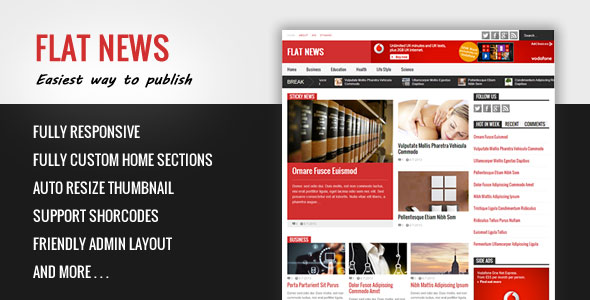 Flat News WP Theme