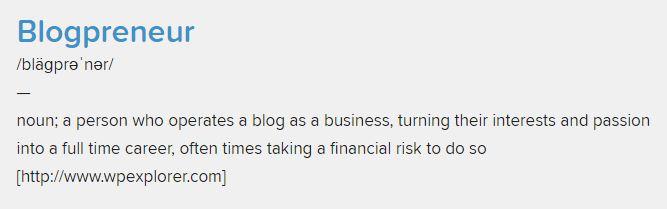 blogpreneur adalah