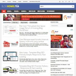 Desain template blog simple