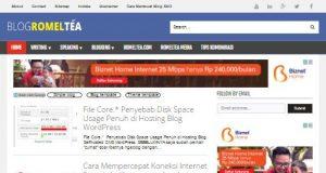 blogromeltea template simple responsive