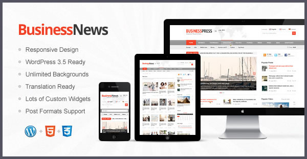 business news responsive magazine wp theme