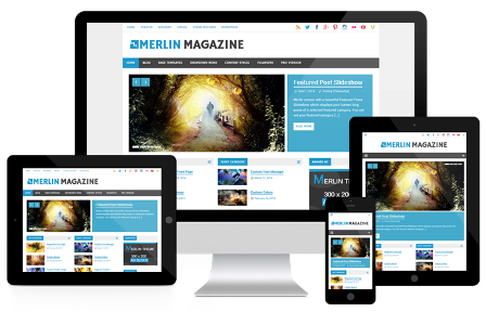 merlin wp theme responsive