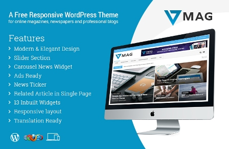VMag – WordPress Magazine Theme Free