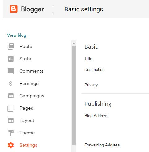 dashboard-blogger-setting