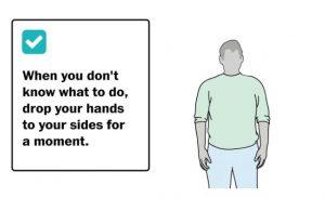 posisi tangan awal
