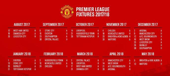 jadwal-manchester-united-liga-inggris-2017-2018
