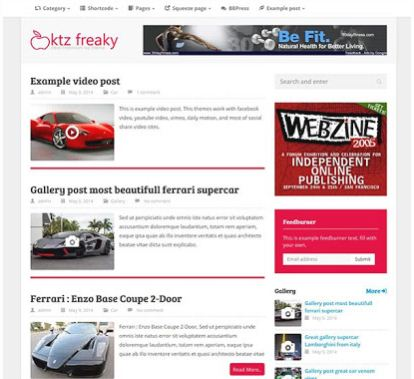 ktz freaky wordpress theme