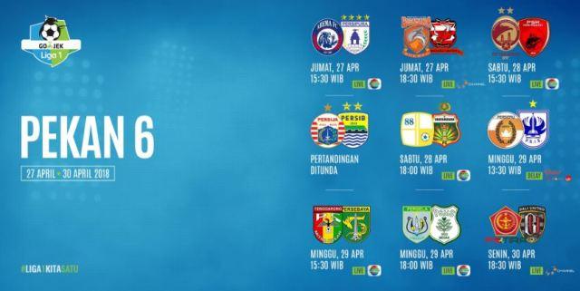 jadwal-liga-1-2018-pekan-6