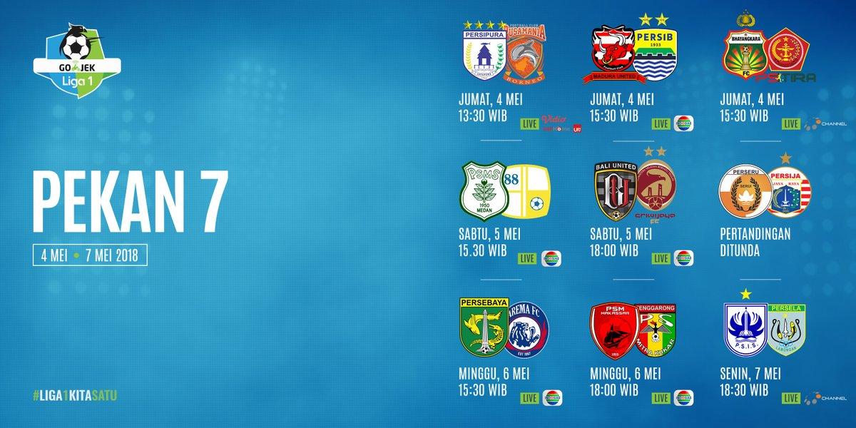 jadwal-liga-1-2018-pekan-7