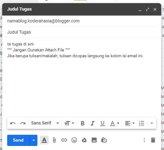 tugas via email