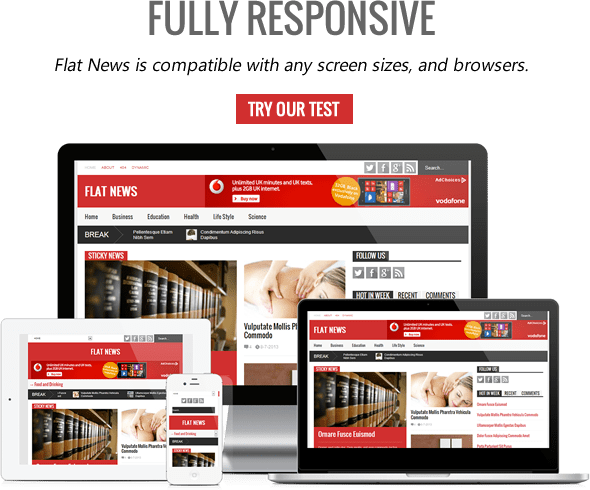 flatnews blogger template