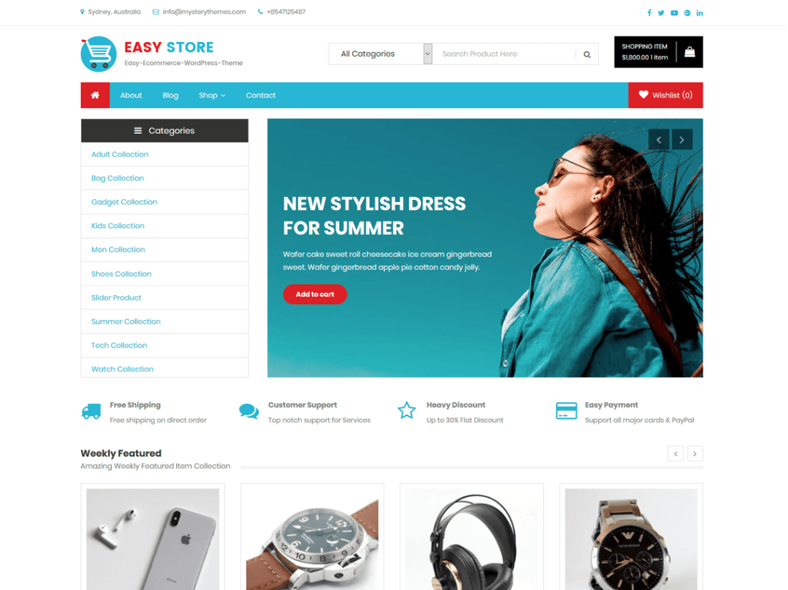 easy store wp theme toko online
