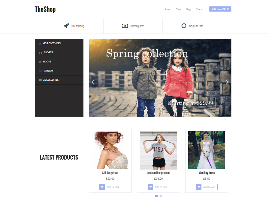 TheShop Online Store WP Theme