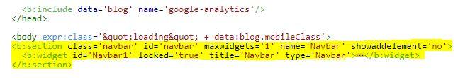 kode navbar blog