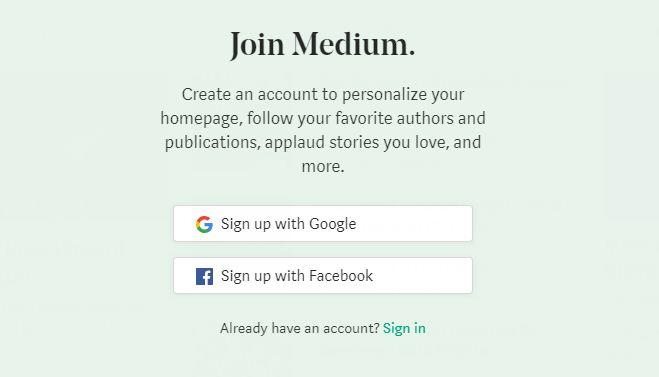 membuat blog medium