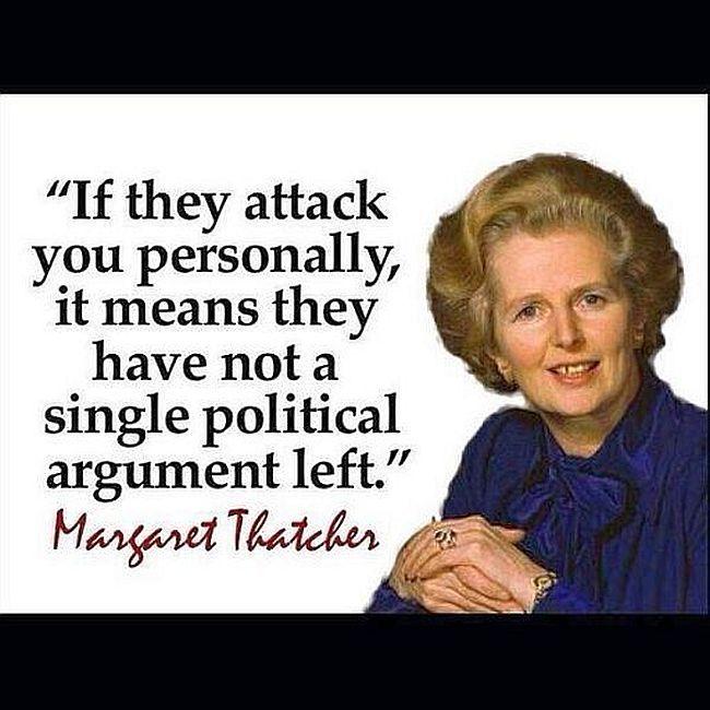 debat menyerang pribadi thatcher