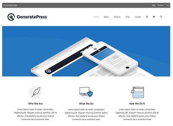 generate press wp theme