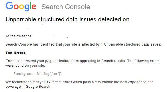 Mengatasi Unparsable Structured Data di Google Search Console