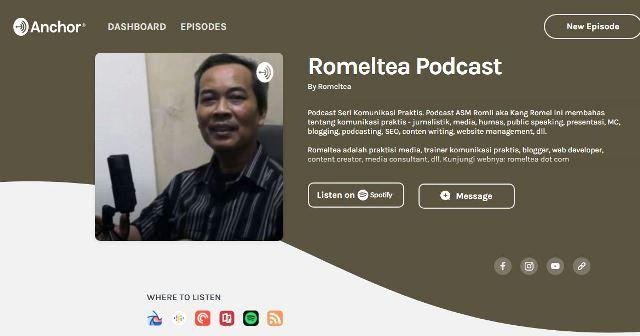 romeltea podcast anchor